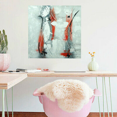 Wall Decorate Abstract Art Canvas Oil Painting Hand Painted : Symbol (Framed)