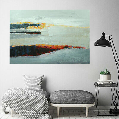 Modern Wall Art Home Decor Framed Canvas Oil Painting Hand Painted - Seaside