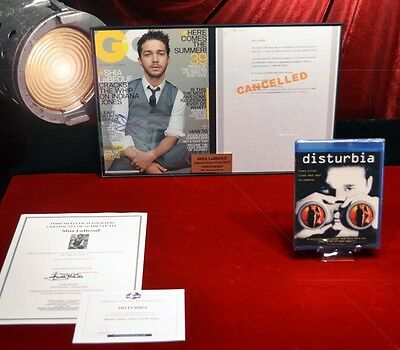 SHIA LaBEOUF Signed Autograph, DISTURBIA Movie Prop, DVD, UACC, Transformer, COA