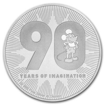 Niue Islands 1 Oz Silber Disney 90 Jahre Mickey Mouse 2 Dollar 2018