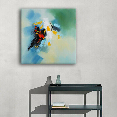 75*75cm Abstract Oil Painting Modern Wall Art Deco Pure Hand Paint Canvas Framed