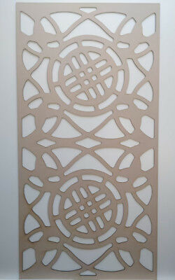 Radiator Cabinet Decorative Screening Perforated 3mm & 6mm thick MDF laser cutG3