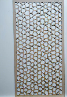 Radiator Cabinet Decorative Screening Perforated 3mm & 6mm thick MDF laser cutO1