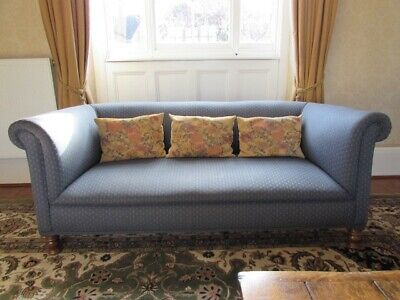"""Original Victorian/Edwardian chesterfield 72"""" long solid but needs recovering."""