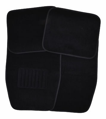 Premium Textile Car Floor Mats Front+Rear Set Anthracite Black 4 Pcs