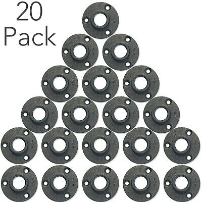 "20 Pack  3/4"" Black Floor Flange Cast Iron Pipe Fitting Plumbing Industrial Pipe"