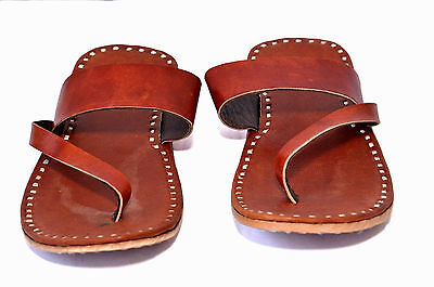 tan leather mens slippers sandals shoes handmade leather sandals flipflops