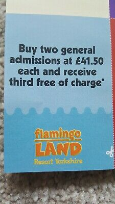 Flamingoland 3 for 2 Voucher valid til 03/11/2019 Save £41.50