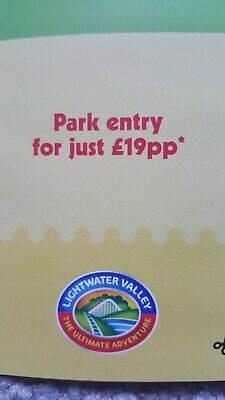 Lightwater valley voucher £19 per person  valid for upto 5 people