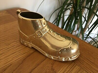 VGC! Vintage Quality Old Large Solid Brass Metal Boot Walking Work Shoe Buckle