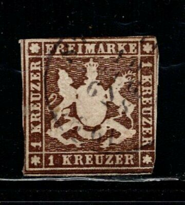Item No. A6903 – Germany: Wurttemberg – Scott # 7 – Used