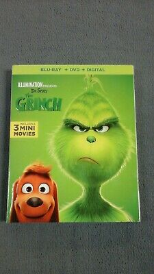 Dr. Seuss' The Grinch (Blu-ray and DVD, 2019) - No Digital