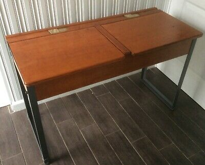 Vintage Old School Twin Desk Genuine KINGFISHER WEST BROMWICH Very Rare