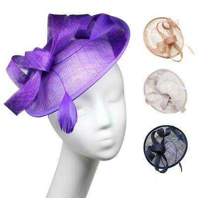 New Large Headband Clip Feathers Fascinator Weddings Cocktails Royal Ascot Races