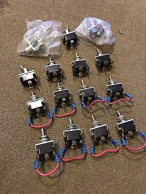 Vintage Lot Of 15 McGill Toggle Switch Switches Trains (SL)