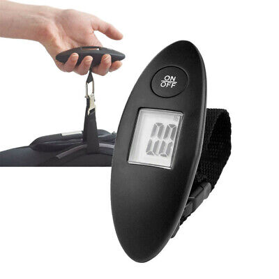 90lb Portable Electronic Digital Luggage Scale in Black | Free Battery Inc