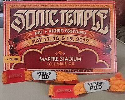 Sonic Temple Tickets 3-Day Weekend FIELD Pass 5/17 -19 Foo Fighters, SOAD +more