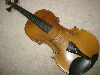 "Beautiful old violin ""F. Geissenhof  Vienna"" (old copy?) 1 part back"