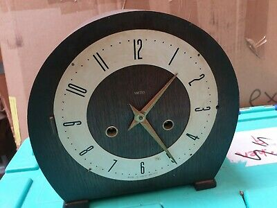 Stylish Retro Mid 20 Century Smiths Wooden Wind Up Mantle Clock