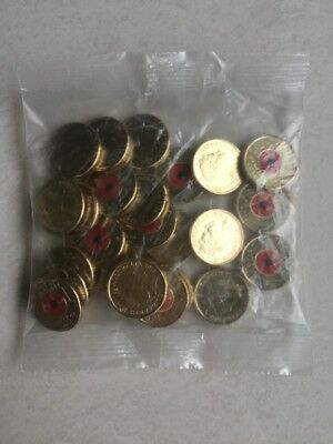 @@ AUSTRALIA 2018 ARMISTICE UNCIRCULATED $2 x 25 UNOPENED COIN BAG RED POPPY @@