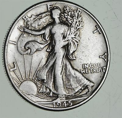 Strong Feather Details - 1945 Walking Liberty Half Dollars - Huge Value *820