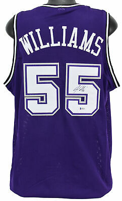 1d6753b4d Kings Jason Williams Authentic Signed Purple Jersey Autographed BAS  Witnessed