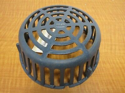 "ZURN INDUSTRIES 10-1/8"" x 4-1/4"" Blue Cast Iron Roof Drain Dome, NEW"
