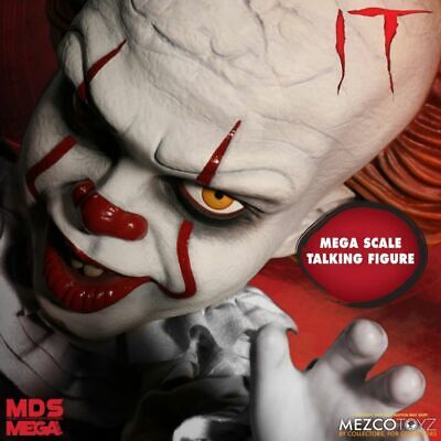 "Mezco Mega Scale 15"" IT Pennywise Talking Figure, NIB, In Stock, FREE SHIPPING!"