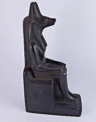 ANCIENT EGYPTIAN ANTIQUE ANUBIS SIT Statue Stone 1660-1480 BC