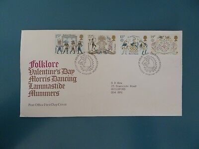 1981 Folklore Valentines's Day Post Office First Day Cover With London Postmark