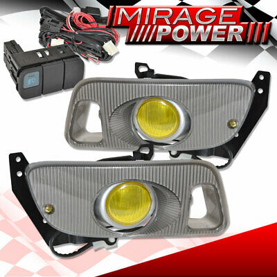 For 1992-1995 Civic Hatchback Coupe Yellow Fog Light Wiring Switch Harness Jdm