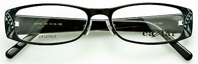 ebc8a91076dc CAVIAR WOMENS EYEGLASSES Frame Polished Black-Austrian Crystals M1748 C24  53mm
