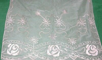 Antique Ottoman Silver Embroidered Silk Kerchief