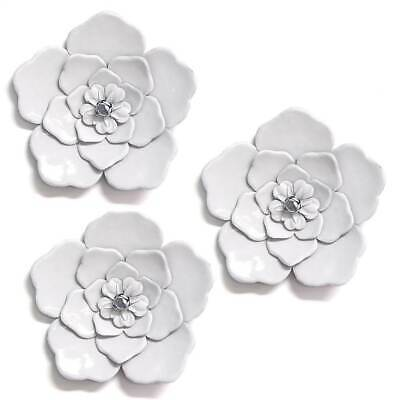 Wall Flowers in White -Set of 3 [ID 3779731]