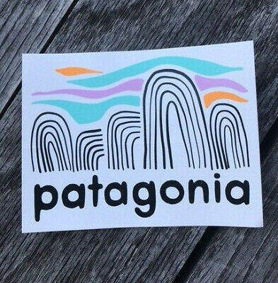 ad924eb2ab5e5 RETRO Patagonia Fitz Roy CLASSIC Logo Sticker Decal