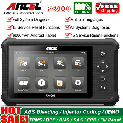Ancel X5 Plus WiFi OBD2 Scanner Diagnostic Full System Tool +10.1'' Win10 Tablet