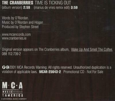 "Cranberries CD single (CD5 / 5"") Time Is Ticking USA promo MCAR25643-2 MCA"