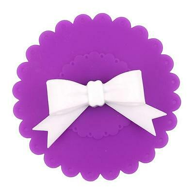 Lovely Bowknot Bow Silicon Anti-dust Mug Cap Cup Glass Lid Leakproof Cover MH