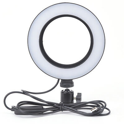 LED Ring Light Dimmable USB 5500K Fill Lamp Photography Phone Video Live LU