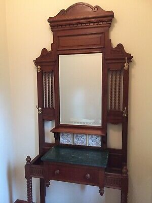 Wooden Hall Stand Antique Reproduction Style