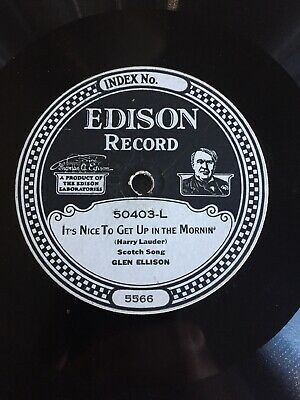Collection Lot Various Vintage Edison & Pathe Disc Records - All Good Players