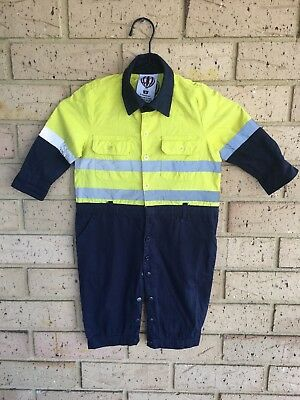 CUTIES BY ZOOTYS BABY TODDLER HI VIZ OVERALLS. Size (0-1 Year Old).