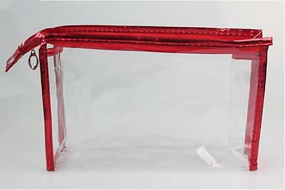 3Sizes Transparent Bag Makeup Travel Pouch Toiletry Clear Case Waterproof MH
