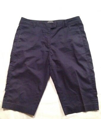 Adidas Womens Size 8 Stretch Navy Blue Cotton Blend Athletic Golf Pants