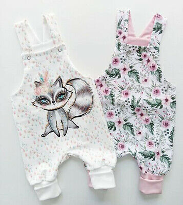 AU Cute Newborn Baby Girls Sleeveless Floral Fox Romper Jumpsuit Bodysuit Outfit