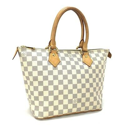 8e70d08b6d79f 100% Auth Louis Vuitton Damier Azur Saleya PM Shopping Tote Hand Bag   2914