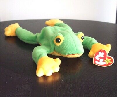 "Ty Beanie Babies ""Smoochy"" The Green Frog DOB 1/10/1997 - Mint SPECIAL OFFER!!"