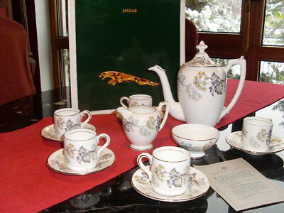 Jaguar Coffee set Original sixties E-Type Coalport China Porcelain
