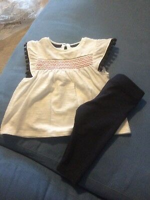 Baby Girl Outfit White Top And Leggings Tesco Up To One Month
