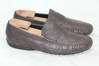 3c1149afad5 Gucci SAN MARINO Guccissima GG Brown Leather Driving Loafer 10.5US   9.5UK  (W51